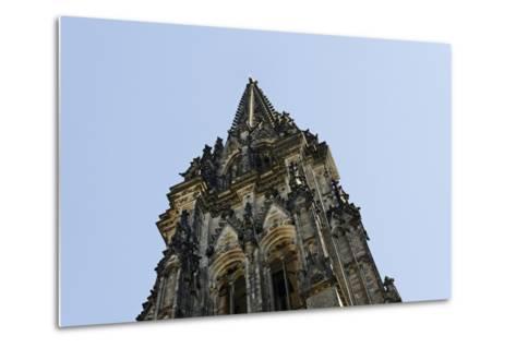 Steeple of the Nikolaikirche, St Nikolai, Hamburg-Mitte, Hanseatic City of Hamburg, Germany-Axel Schmies-Metal Print