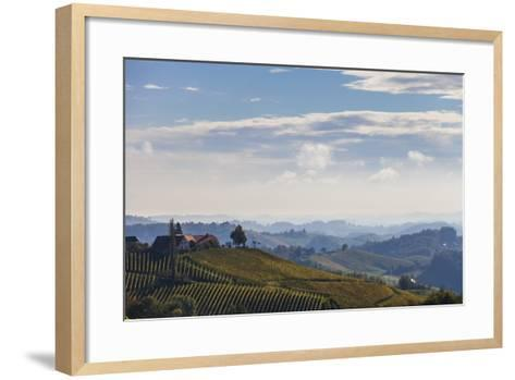 Europe, Austria, Styria, South-Styrian Wine Route, Vineyards, Houses-Gerhard Wild-Framed Art Print