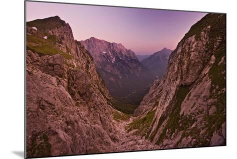 Slovenia, Mountains, Rocks, View, Evening Light-Rainer Mirau-Mounted Photographic Print