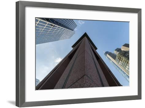 Frankfurt Am Main, Hesse, Germany, Skyscrapers in the Financial District of Frankfurt, Taunusturm-Bernd Wittelsbach-Framed Art Print