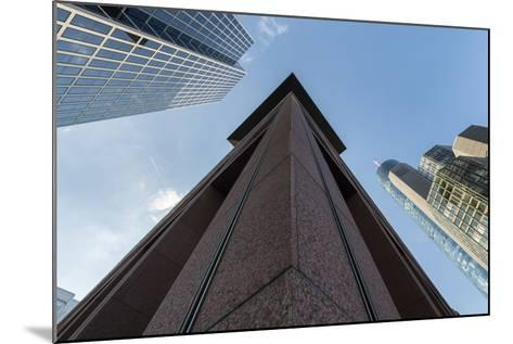Frankfurt Am Main, Hesse, Germany, Skyscrapers in the Financial District of Frankfurt, Taunusturm-Bernd Wittelsbach-Mounted Photographic Print