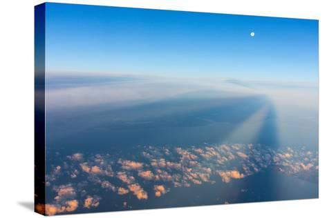 Flight, Moon, Clouds, Sunrise-Catharina Lux-Stretched Canvas Print