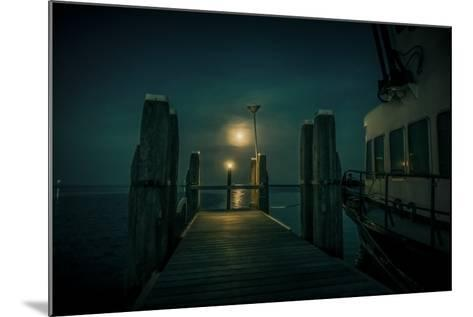 The Netherlands, Frisia, Terschelling, Harbour, Night, Moon-Ingo Boelter-Mounted Photographic Print