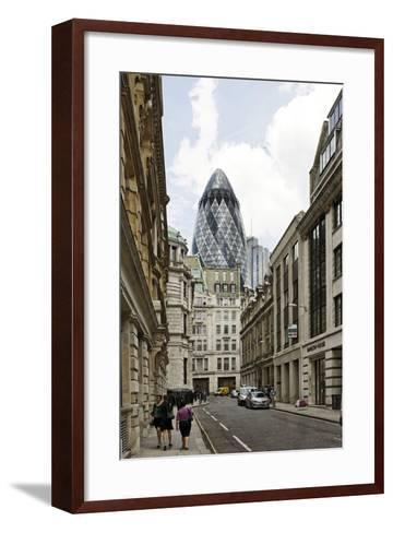 Architecture Mix, Modern and Classical Architecture, Lloyd's Avenue-Axel Schmies-Framed Art Print