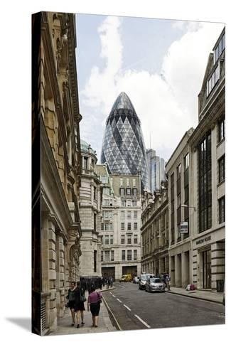 Architecture Mix, Modern and Classical Architecture, Lloyd's Avenue-Axel Schmies-Stretched Canvas Print