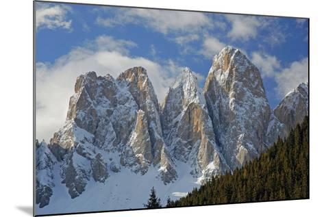 Italy, South Tyrol, the Dolomites, Geislerspitzen, Geisler Gruoup-Alfons Rumberger-Mounted Photographic Print