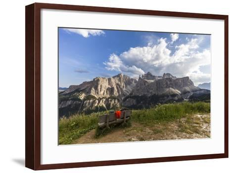 Sella Group, View from the High Route of Kolfuschg, Dolomites-Gerhard Wild-Framed Art Print