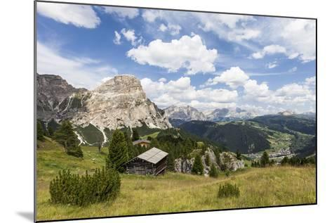 View from High Route of Kolfuschg in the Val Badia, in the Valley of Corvara, Dolomites-Gerhard Wild-Mounted Photographic Print