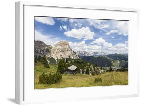 View from High Route of Kolfuschg in the Val Badia, in the Valley of Corvara, Dolomites-Gerhard Wild-Framed Art Print