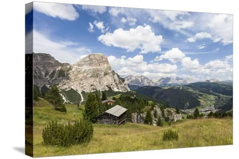 View from High Route of Kolfuschg in the Val Badia, in the Valley of Corvara, Dolomites-Gerhard Wild-Stretched Canvas Print