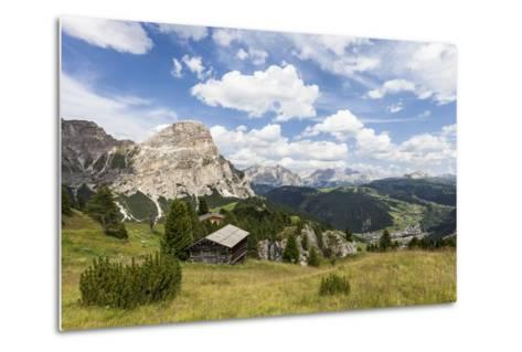 View from High Route of Kolfuschg in the Val Badia, in the Valley of Corvara, Dolomites-Gerhard Wild-Metal Print
