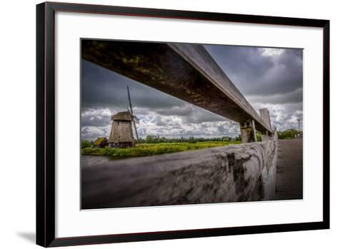 The Netherlands, Channel, Canal, Mill, Windmill-Ingo Boelter-Framed Art Print