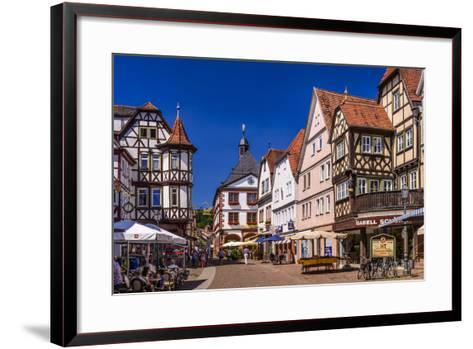 Germany, Bavaria, Lower Franconia, Main-Franconia, Lohr (River) Am Main-Udo Siebig-Framed Art Print