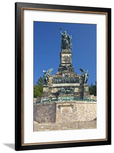 Germany, Hessen, Middle Rhine Valley, RŸdesheim, Niederwalddenkmal-Chris Seba-Framed Art Print
