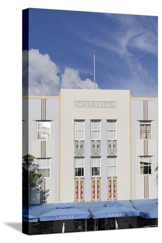 Art Deco Hotel 'Cavalier', Ocean Drive, South Miami Beach, Art Deco District, Florida, Usa-Axel Schmies-Stretched Canvas Print