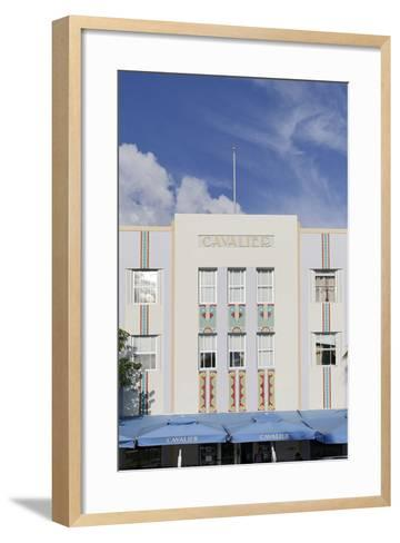 Art Deco Hotel 'Cavalier', Ocean Drive, South Miami Beach, Art Deco District, Florida, Usa-Axel Schmies-Framed Art Print