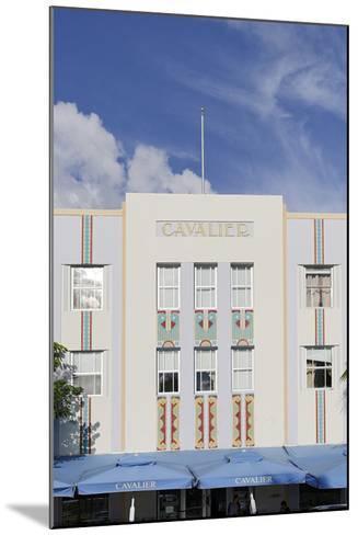 Art Deco Hotel 'Cavalier', Ocean Drive, South Miami Beach, Art Deco District, Florida, Usa-Axel Schmies-Mounted Photographic Print