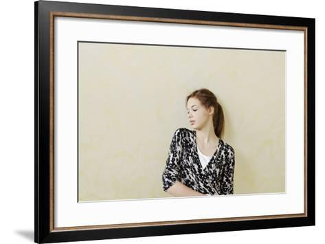 Teenage Girl Self-Confident, Standing, Portrait-Axel Schmies-Framed Art Print
