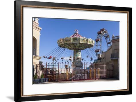 Carrousel and Big Wheel, Prater, 2nd Area, Vienna, Austria, Europe-Gerhard Wild-Framed Art Print