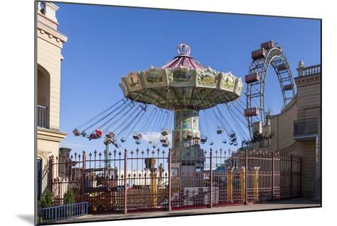 Carrousel and Big Wheel, Prater, 2nd Area, Vienna, Austria, Europe-Gerhard Wild-Mounted Photographic Print