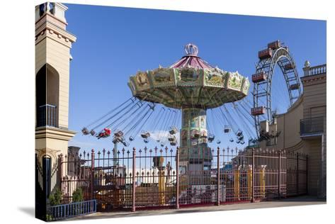 Carrousel and Big Wheel, Prater, 2nd Area, Vienna, Austria, Europe-Gerhard Wild-Stretched Canvas Print
