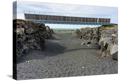 Bridge Between the Continents, Crack Between North American and European Continental Plate-Catharina Lux-Stretched Canvas Print
