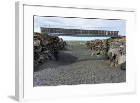 Bridge Between the Continents, Crack Between North American and European Continental Plate-Catharina Lux-Framed Art Print
