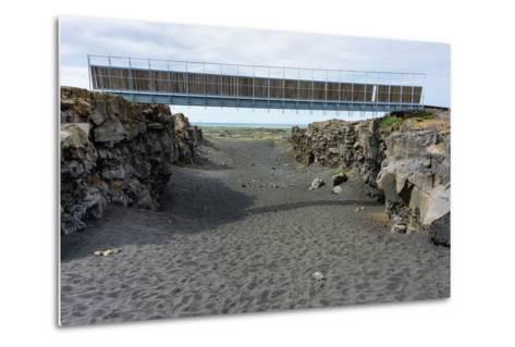 Bridge Between the Continents, Crack Between North American and European Continental Plate-Catharina Lux-Metal Print