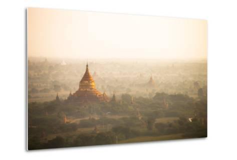Aerial View of Ancient Temples (More Than 2200 Temples) of Bagan at Sunrise in Myanmar-Harry Marx-Metal Print