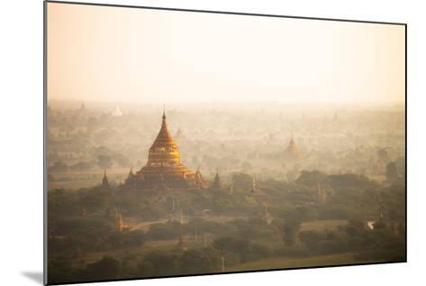 Aerial View of Ancient Temples (More Than 2200 Temples) of Bagan at Sunrise in Myanmar-Harry Marx-Mounted Photographic Print