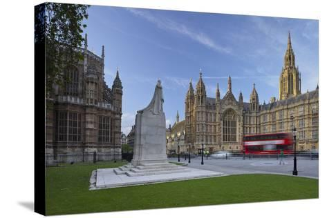 Westminster Palace, London, England, Great Britain-Rainer Mirau-Stretched Canvas Print