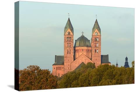 Speyer, Imperial Cathedral, Unesco-World Cultural Heritage, Sunrise, Rhineland-Palatinate, Germany-Ronald Wittek-Stretched Canvas Print