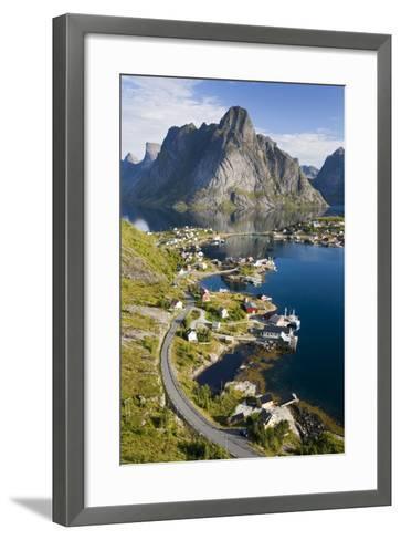 Scandinavia, Norway, Lofoten, Moskenesoey, Pure, Mountains, Fisher-Place, Supervision-Rainer Mirau-Framed Art Print