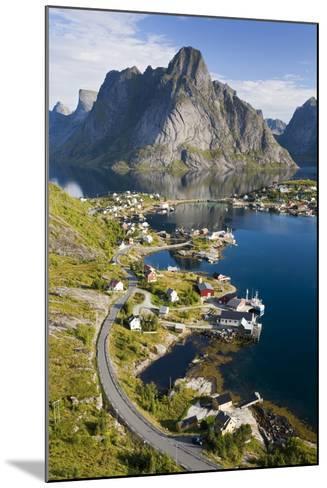 Scandinavia, Norway, Lofoten, Moskenesoey, Pure, Mountains, Fisher-Place, Supervision-Rainer Mirau-Mounted Photographic Print
