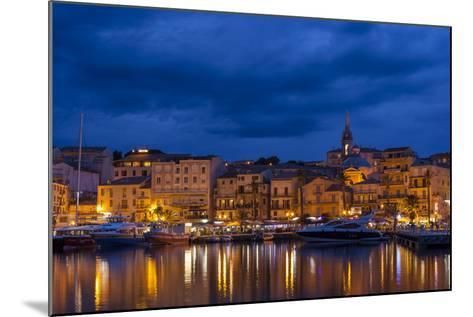 Europe, France, Corsica, Calvi, Harbour and Houses in the Dusk-Gerhard Wild-Mounted Photographic Print