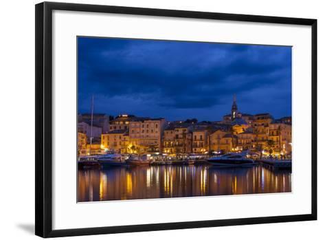 Europe, France, Corsica, Calvi, Harbour and Houses in the Dusk-Gerhard Wild-Framed Art Print