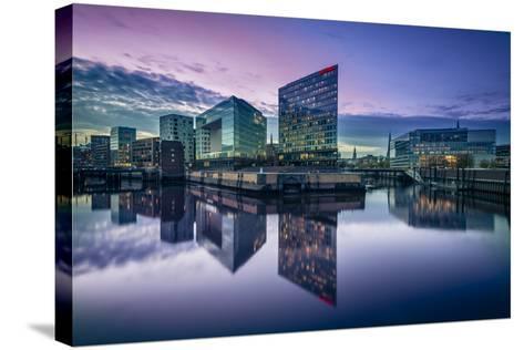 Germany, Hamburg, Hafencity, Ericusspitze, Der Spiegel (News Magazine)-Ingo Boelter-Stretched Canvas Print