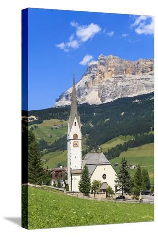 District Stern or La Villa in Front of the Sas Dla Crusc, 'Abtei' or 'Badia', Dolomites-Gerhard Wild-Stretched Canvas Print