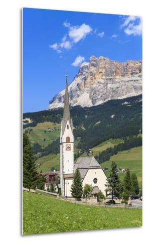 District Stern or La Villa in Front of the Sas Dla Crusc, 'Abtei' or 'Badia', Dolomites-Gerhard Wild-Metal Print
