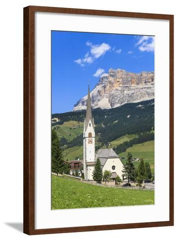District Stern or La Villa in Front of the Sas Dla Crusc, 'Abtei' or 'Badia', Dolomites-Gerhard Wild-Framed Art Print