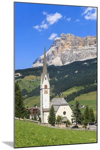 District Stern or La Villa in Front of the Sas Dla Crusc, 'Abtei' or 'Badia', Dolomites-Gerhard Wild-Mounted Photographic Print