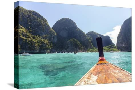 """Longtail Boat Cruise to Koh Phi Phi Leh, Maya Bay (""""The Beach""""-Harry Marx-Stretched Canvas Print"""