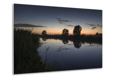 Ashes at the Ems Jade Channel, Evening Light, Gšdens, Sande, Frisia, Lower Saxony, Germany-Axel Ellerhorst-Metal Print