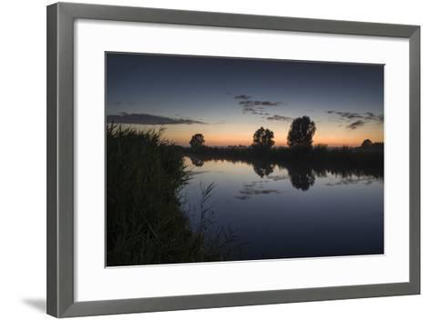 Ashes at the Ems Jade Channel, Evening Light, Gšdens, Sande, Frisia, Lower Saxony, Germany-Axel Ellerhorst-Framed Art Print