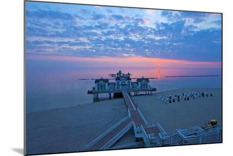 Europe, Germany, Mecklenburg-Western Pomerania, RŸgen, Bathing Place Sellin, Pier, Daybreak-Chris Seba-Mounted Photographic Print
