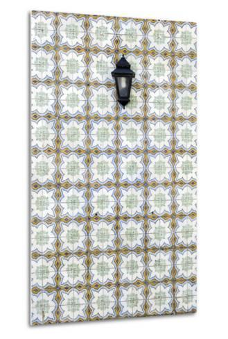 Floral Tile Pattern at Wall of a House, Sintra, Lisbon, Portugal-Axel Schmies-Metal Print