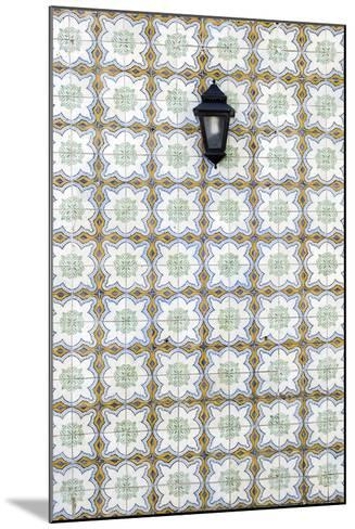 Floral Tile Pattern at Wall of a House, Sintra, Lisbon, Portugal-Axel Schmies-Mounted Photographic Print
