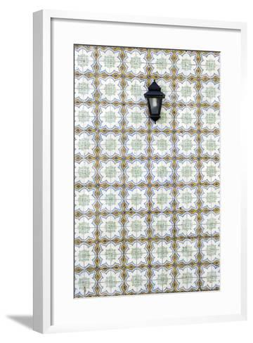 Floral Tile Pattern at Wall of a House, Sintra, Lisbon, Portugal-Axel Schmies-Framed Art Print
