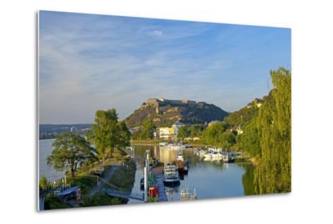 Germany, Rhineland-Palatinate, Koblenz, Ehrenbreitstein Fortress, Harbour-Chris Seba-Metal Print