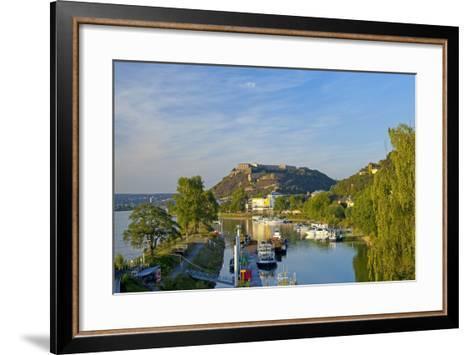Germany, Rhineland-Palatinate, Koblenz, Ehrenbreitstein Fortress, Harbour-Chris Seba-Framed Art Print
